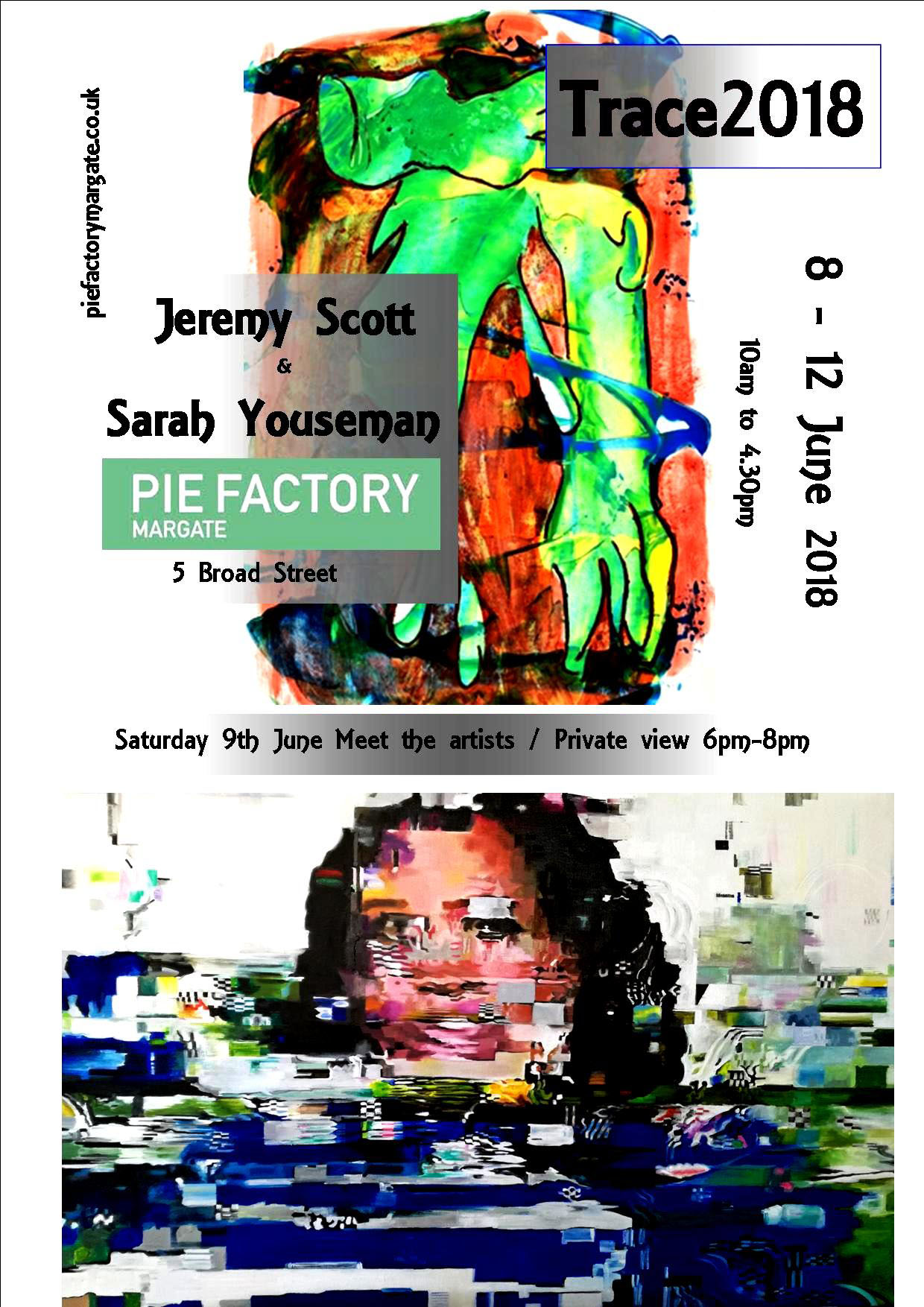 Pie Factory Exhibition Flyer